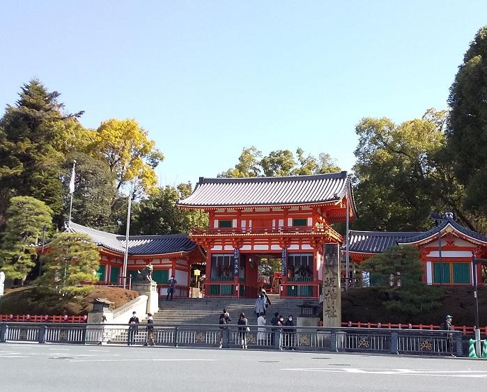 八坂神社西楼門前