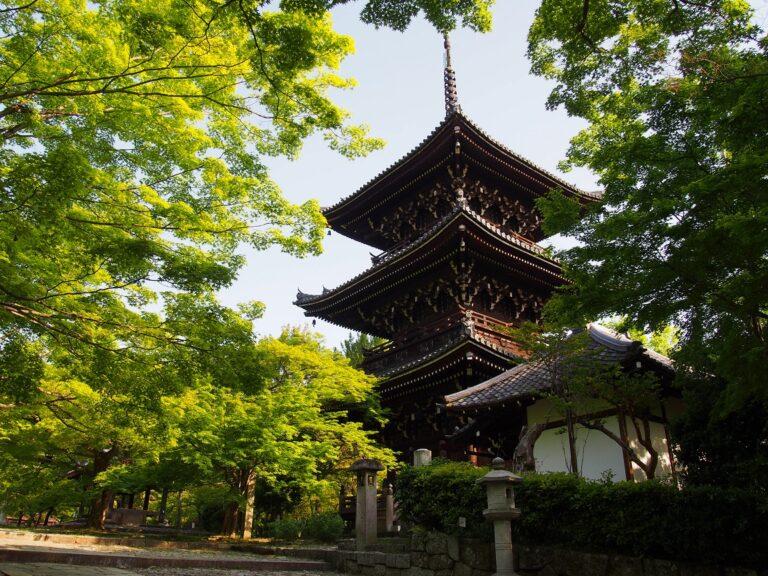 真如堂の三重塔と新緑