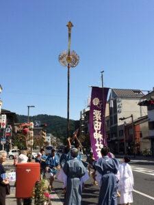 粟田神社の剣鉾
