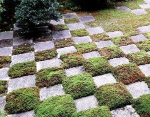 市松模様が有名な庭園