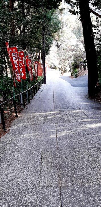 今熊野観音寺近くの道