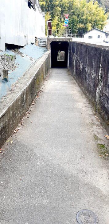案内板15-2からのトンネル