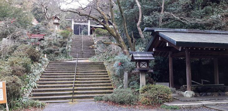 日向大神宮の階段