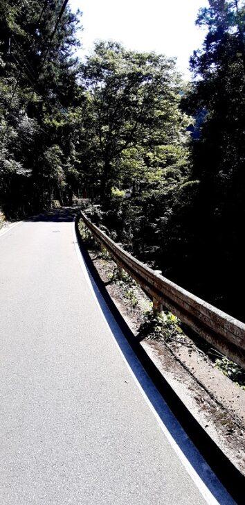二ノ瀬トンネル右側の道