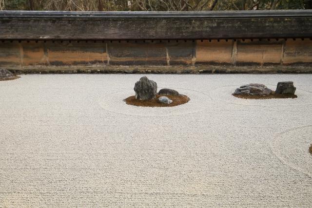 龍安寺の枯山水庭園
